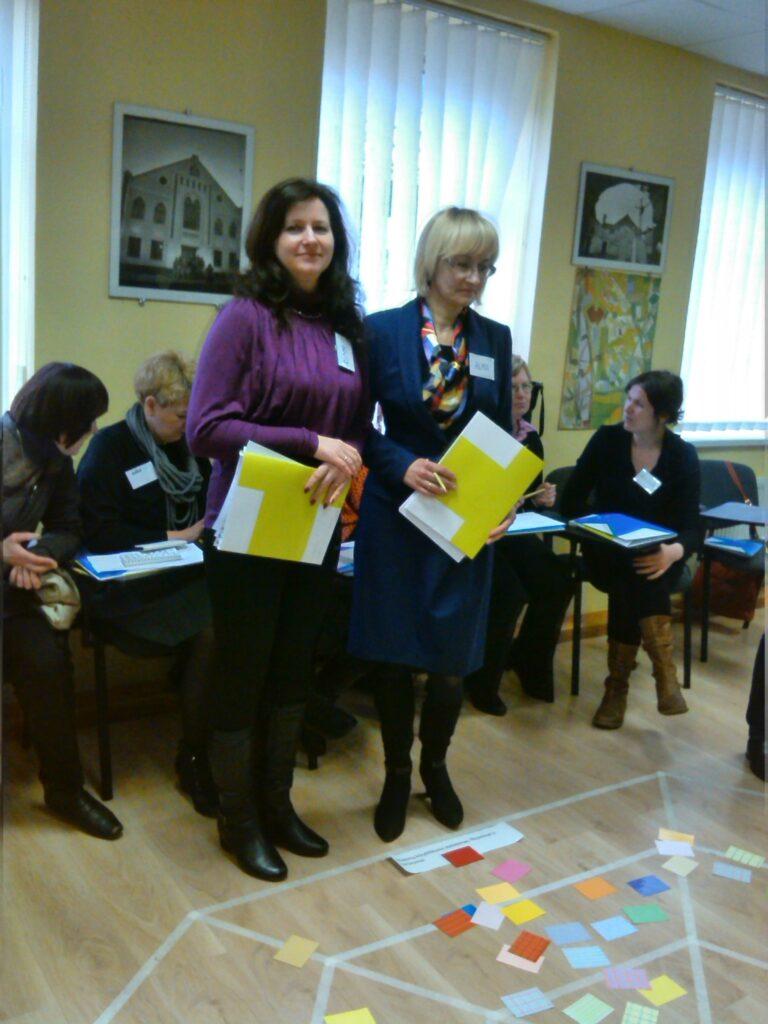 """Projekto """"Kūrybinės partnerystės"""" mokymai Marijampolės M. Lukšienės švietimo centre"""