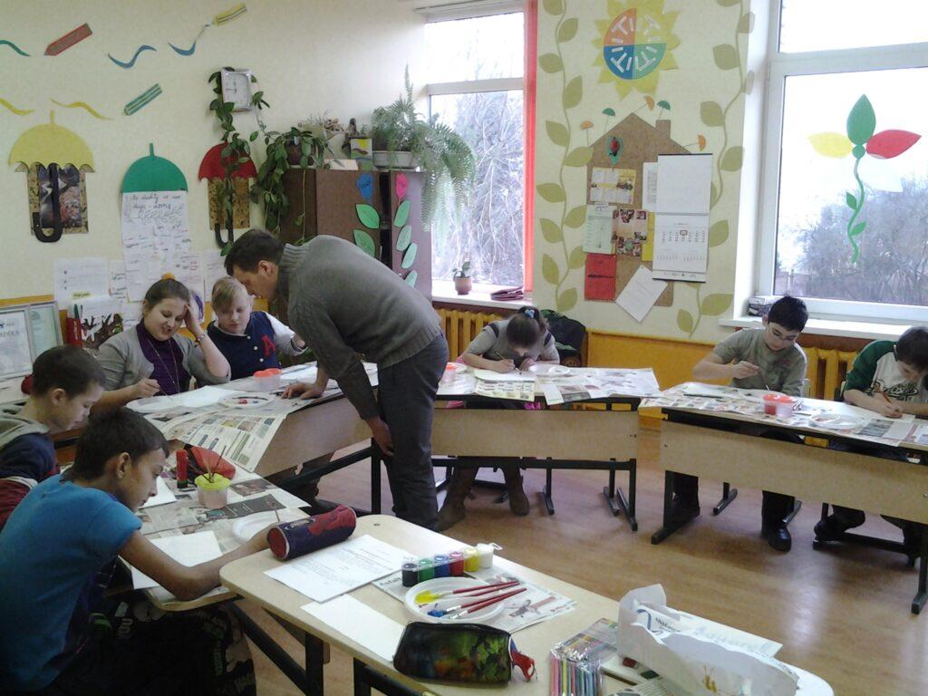 Mokinių užsiėmimai su kūrybos praktiku M. Butvila