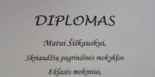Prizinė vieta Lietuvos mokinių fizikos olimpiados rajoniniame etape