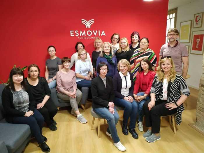"""Thumbnail for the post titled: Erasmus+ projektas """"Novatoriškų ugdymo(si) praktikų taikymas gerinant mokinių mokymosi pasiekimus"""""""