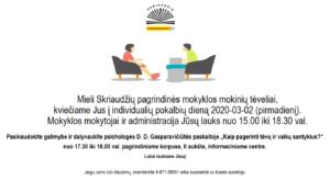 Thumbnail for the post titled: Individualių pokalbių diena