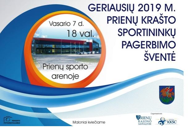 2019 m. geriausių Prienų krašto sportininkų pagerbimo šventė