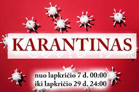 Thumbnail for the post titled: Dėl karantino paskelbimo nuo 2020-11-07