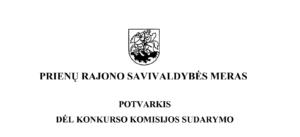Thumbnail for the post titled: POTVARKIS DĖL KONKURSO KOMISIJOS SUDARYMO